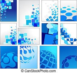 blauwe , geometrisch, vector, achtergronden