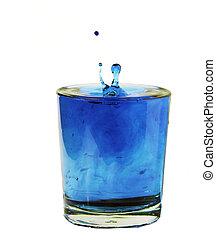 blauwe , gespetter