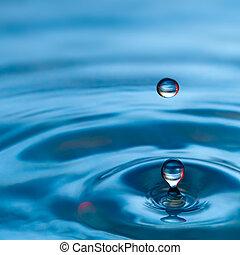 blauwe , gespetter, tonen, waterdaling, rood