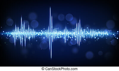 blauwe , golfvorm, audio, achtergrond