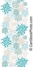 blauwe , grijs, verticaal, model, seamless, planten, achtergrond