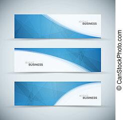 blauwe , header, abstract, drie, zakelijk