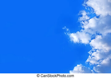 blauwe hemel