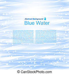 blauwe , illustration., water, vector, achtergrond, reflections.