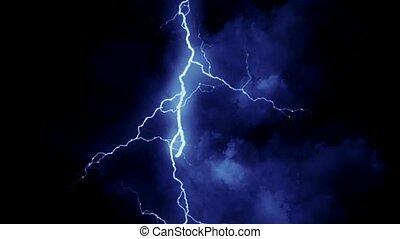 blauwe , lightning