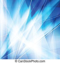 blauwe lijnen, abstract, neon, vector, achtergrond