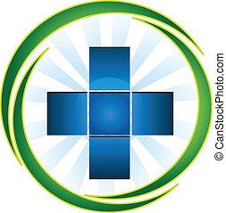 blauwe , logo, kruis