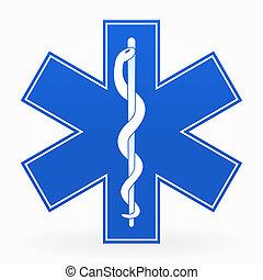 blauwe , medisch teken