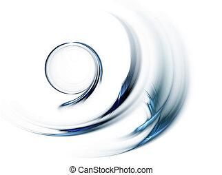 blauwe , motie, cirkel, snel, ronddraaien