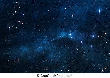 blauwe , nebula, achtergrond, ruimte
