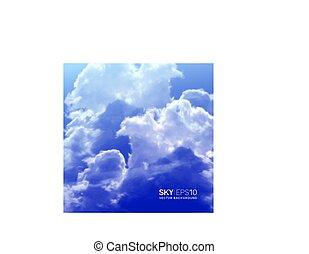 blauwe , realistisch, hemel