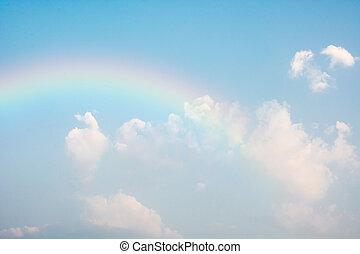blauwe , regenboog, hemel
