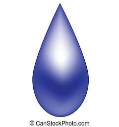 blauwe , regendruppel