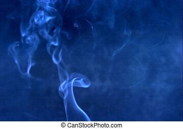 blauwe , rook, verdoezelen