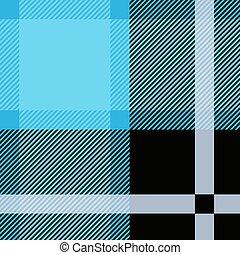 blauwe , ruitjes, pattern., seamless, tartan, textured