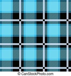 blauwe , ruitjes, seamless, textured, tartan, design.