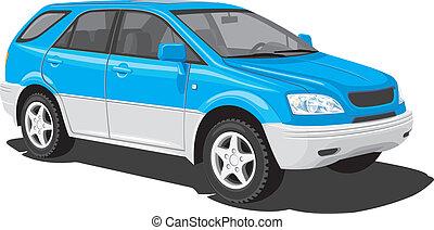 blauwe , sporten nutsbedrijf voertuig