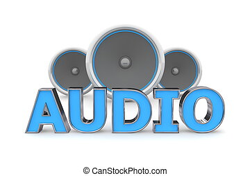 blauwe , sprekers, audio, -
