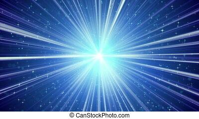 blauwe , stralen, achtergrond, licht, loopable, sterretjes, het glanzen
