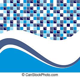 blauwe , tegel, achtergrond