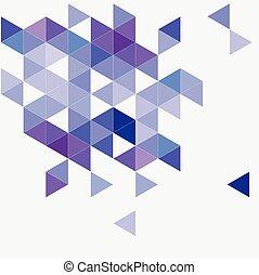 blauwe , template., zigzag, achtergrond., driehoek, pastel, oppervlakte, mozaïek, chevron, aztec, geometrisch, marine, document, hipster, ontwerp, plat, afdrukken, grijze , vector, viooltje