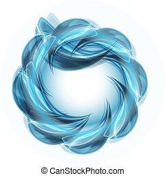 blauwe , vector, voorwerp