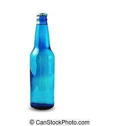 blauwe , vector, white., fles