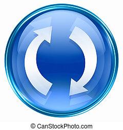 blauwe , verversen, pictogram