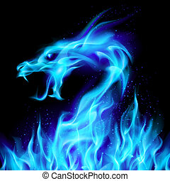 blauwe , vlieger vuur