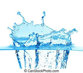 blauwe , vonken, wit water, achtergrond