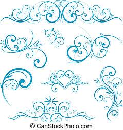 blauwe vorm, boekrol