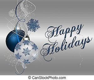 blauwe , vrolijke , feestdagen, -