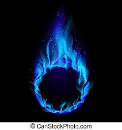 blauwe , vuur, ring