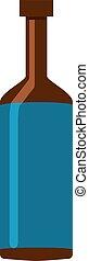 blauwe , witte , fles, achtergrond., vector, illustratie