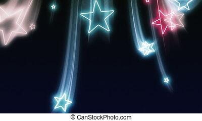 blauwe , witte , vliegen, sterretjes, rood