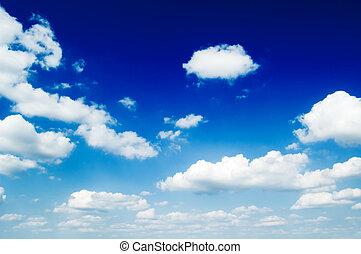 blauwe , wolken, sky.