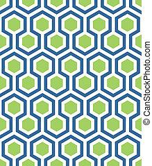 blauwe , zeshoek, groene, seamless