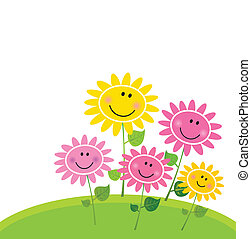 bloem, vrolijke , lente, tuin
