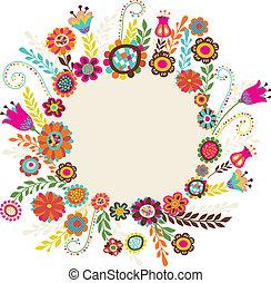 bloemen, begroetende kaart