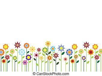bloemen, lente, vector