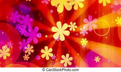 bloemen, lus, helder, retro