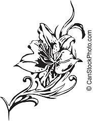 bloemen, vector, -