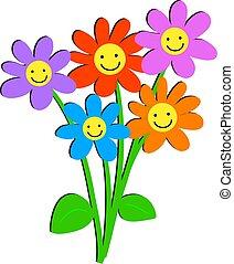 bloemen, vrolijke