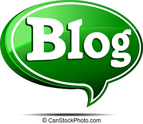 blog, groene, tekstballonetje