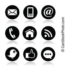 blog, media, contact, web, sociaal