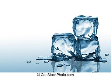 blokje, drie, ijs