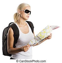blonde , toerist