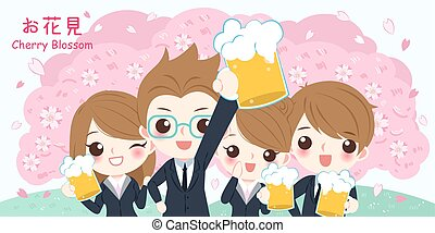 blossom , kers, zakenlui