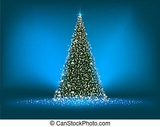 blue., abstract, boompje, eps, groene, 8, kerstmis