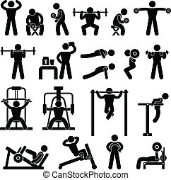 bodybuilding, gym, gymnasium